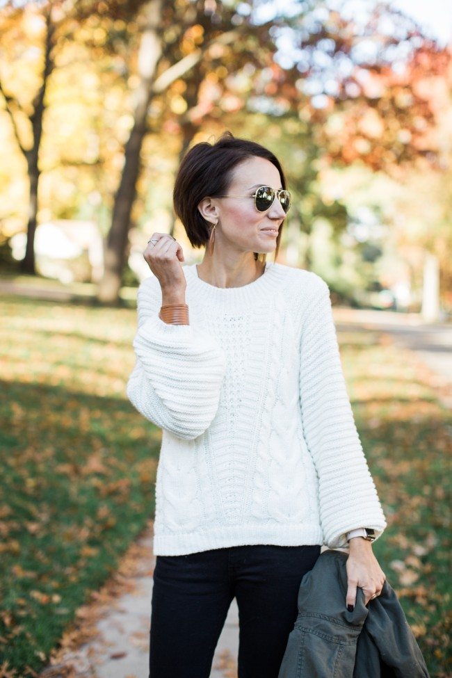 ADD TO FAVORITES a.n.a Long Sleeve Round Neck Pullover Sweater