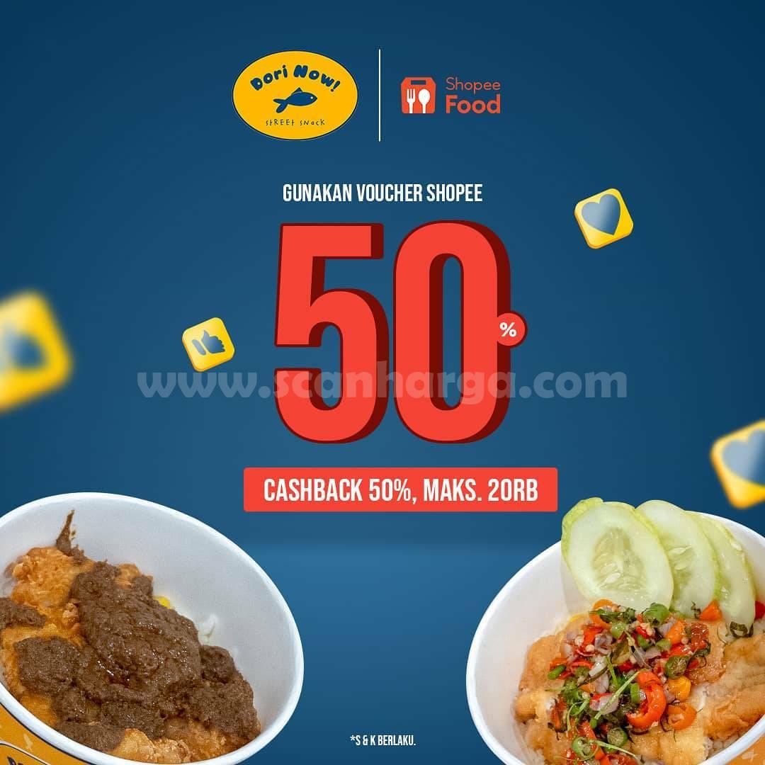 Promo DORI NOW DISKON hingga 50% khusus pemesanan via ShopeeFood