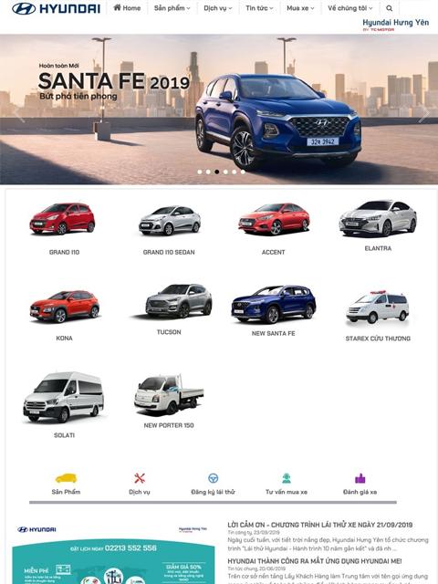 Website cty Hyundai Hưng Yên - Đại lý ủy quyền của TC Motor - Ảnh 1