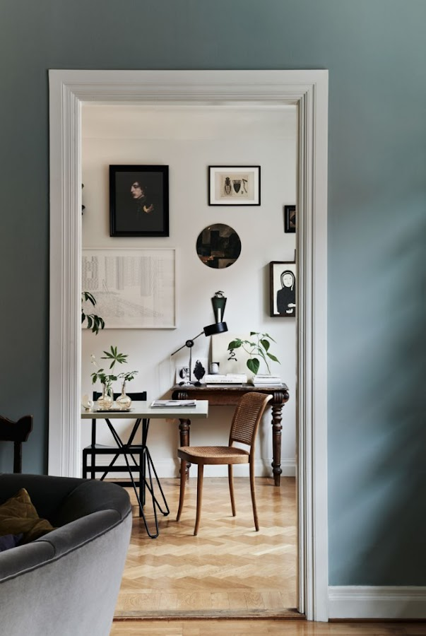 Inspiración decoración. Una casa ecléctica en Suecia