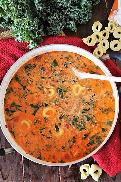 Pot of Sausage Tortellini Soup Image