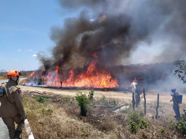 Sertão da Paraíba tem de 5 a 10 incêndios por dia em vegetação desde agosto