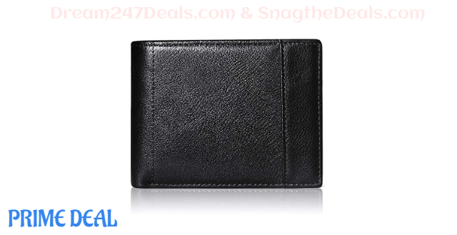 Mens Wallet Bifold RFID Genuine Leather 60% off