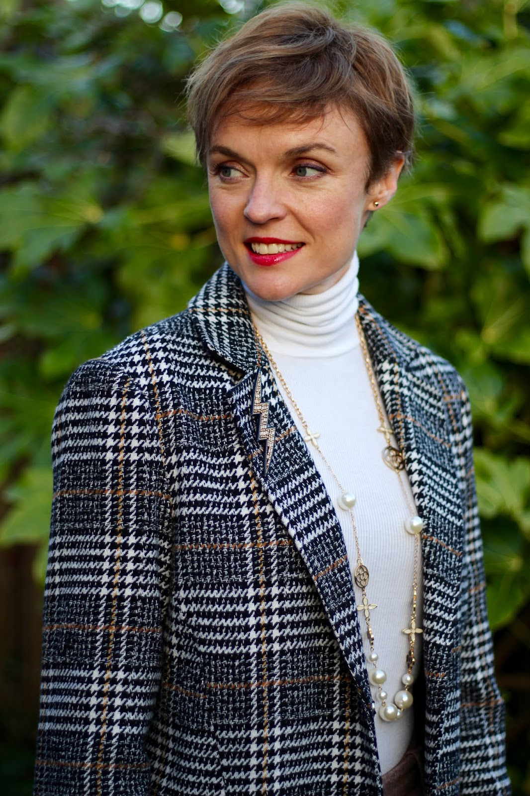 Checked Coat & Wool Trousers   Winter Style   Fake Fabulous