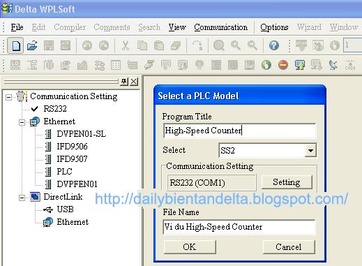 Tạo file lập trình PLC Delta DVP14SS211T