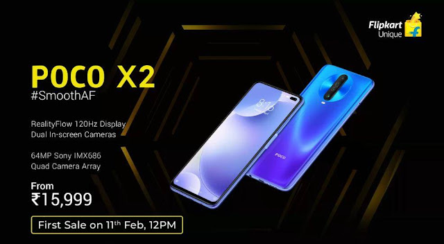 Poco X2 Launched In India - Great Specifications with Aggressive Price