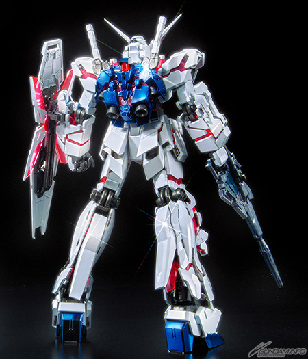 MG 1/100 RX-0 Unicorn Gundam [RE:0096 Red and Green Psycho Frame Titanium Finish Ver.] - Release Info. Box art and Official Images - Gundam Kits ...
