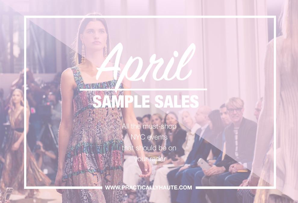 April 2018 Sample Sales