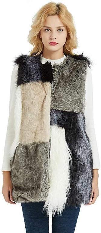 Unique Cute Women's Faux Fur Vest