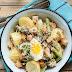 Sałatka z młodymi ziemniakami i szparagami