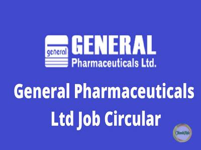 Job Circular 2019-General Pharmaceuticals Ltd Image