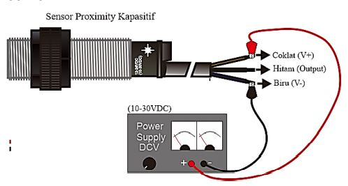 Sumber tegangan dada Sensor Proximity Kapasitif