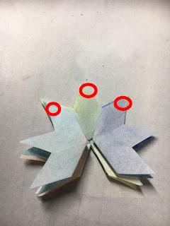 影織の切り絵ポップアップカード作り方⑭
