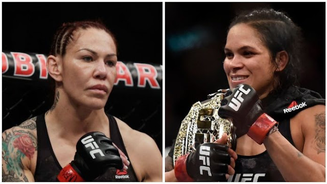 Cris Cyborg and Amanda Nunez