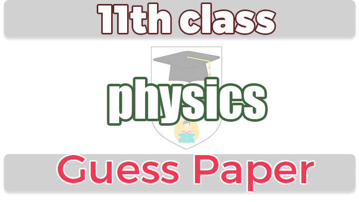 1st year Physics Important Questions & Guess paper 2020 - 11th class