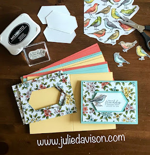 Stampin' UP! Bird Ballad Stitched Nested Label Cards ~ 2019-2020 Annual Catalog ~ www.juliedavison.com #stampinup #cleanandsimple
