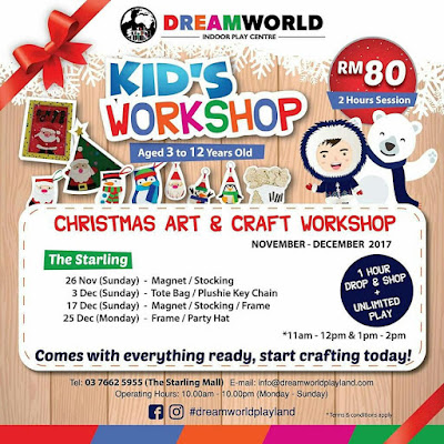 kids workshop, dreamworld playland, playland ioi city mall, playland the starling, kids workshop