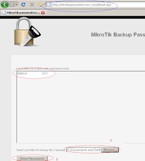 Gress Internet online Recovery Password Mikrotik