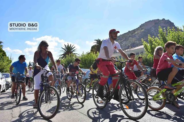 """Μεγάλη συμμετοχή στον εορτασμό της """"Ευρωπαϊκής Ημέρας χωρίς αυτοκίνητο"""" στο Ναύπλιο"""