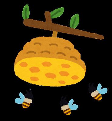 蜂の巣のイラスト「ミツバチの巣」