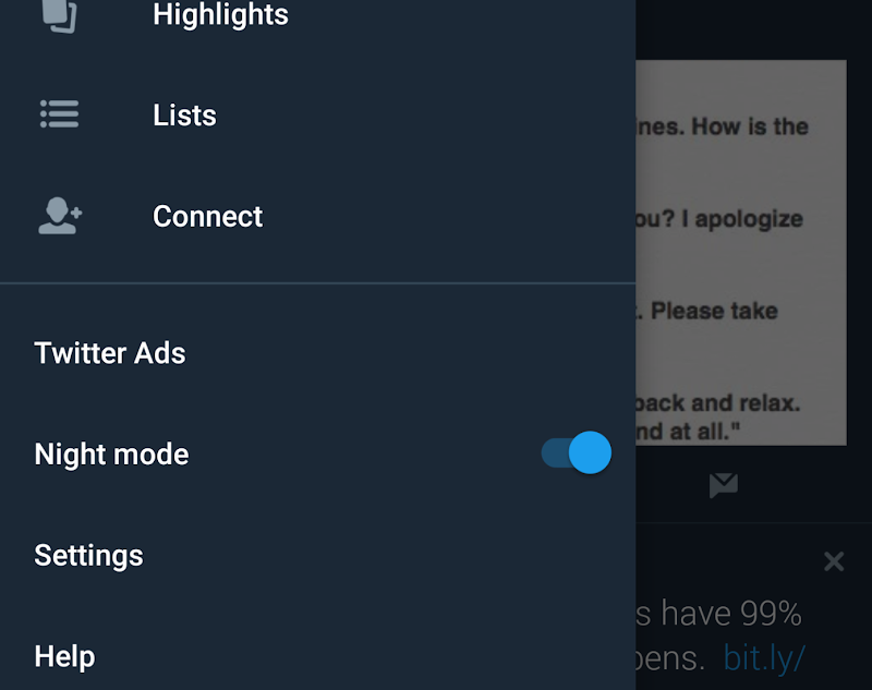 Twitter is planning to launch an even darker night mode