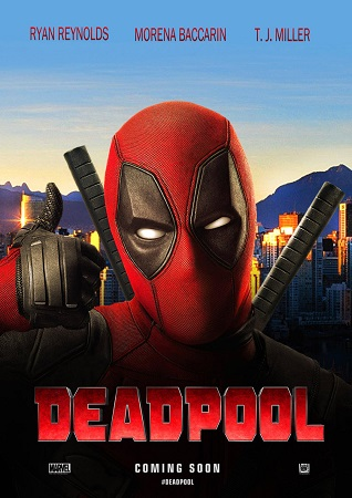 Poster Of Deadpool 2016 Dual Audio 850MB HDTS x264 Watch Online