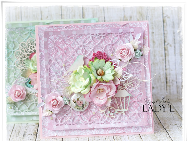 Pink & Mint - 2 Pastel Cards - Wild Orchid Crafts DT