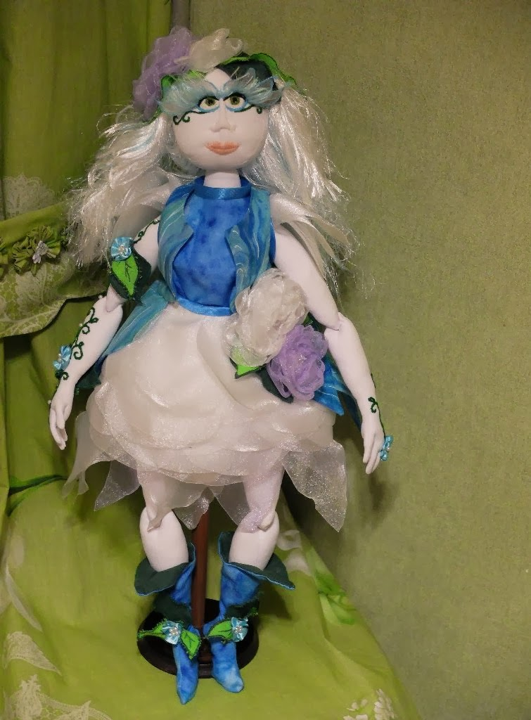 handmade, вышивка, из ткани, кукла, ручная работа, текстильная кукла, узор, шарнирная кукла