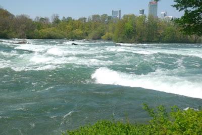 The Niagara River near Niagara Falls New York