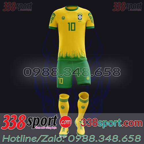 Áo Đội Tuyển Brazil Đặt May Theo Yêu Cầu - Mã BRAZIL 04