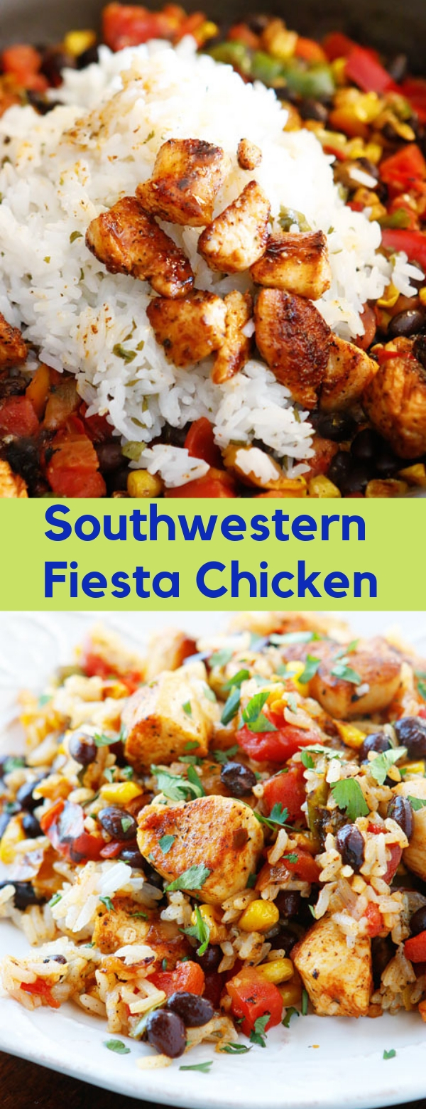 Southwestern Fiesta Chicken #Southwestern #Chicken #DINNER