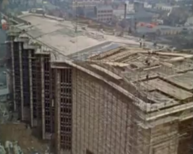 Coventry Cathedral under construction Basil Spence