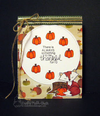 Thankful Fox card by Crafty Math Chick | Bushels of Love stamp & die set by Newton's Nook Designs Exclusively for Simon Says Stamp