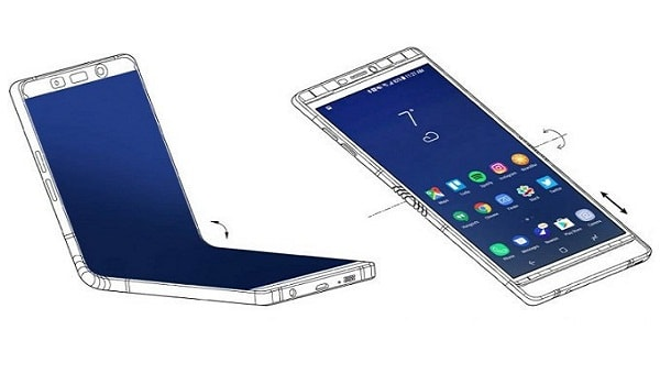 folding screen from samsung phone for 2018