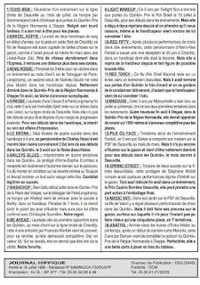 programme quinté Pronostic Lundi 20/09/2021