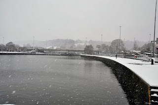 Photo of Bristol harbour in the snow