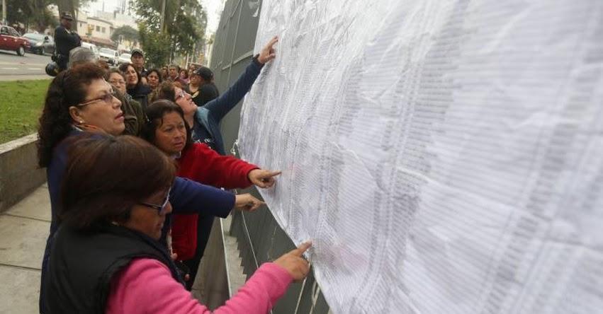 MINEDU: Cerca de 11 mil maestros alcanzaron una plaza de Nombramiento Docente 2017 - www.minedu.gob.pe