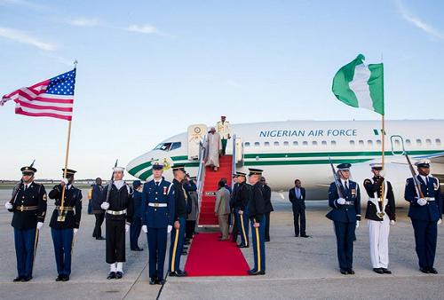 Photos! President Buhari Arrives Washington DC For Nuclear Summit
