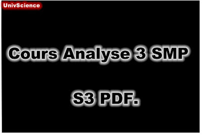 Cours Analyse 3 SMP S3 PDF.