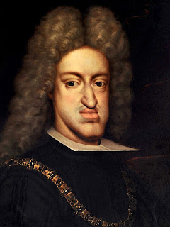 A portrait of Charles II, whose face is deformed through inbreeding