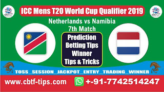 Who will win Today, ICC Mens T20 World Cup Qualifier 2019, 7th T20 Match NAM vs NED