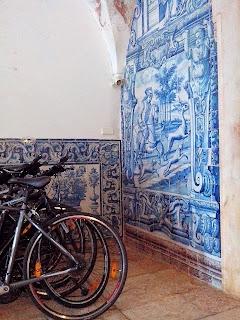 Porto, Portugal's tilework on your bike tour