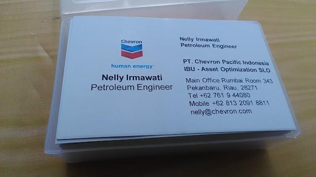 Kartu Nama Karyawan Chevron