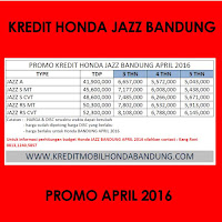 Paket Kredit Honda Jazz April 2016, Harga Honda Jazz April 2016