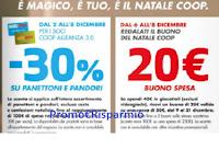 Logo Coop Magico Natale : 30% sconto panettoni e pandoro e buono spesa da 20€