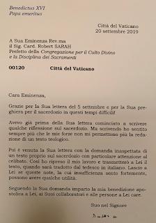 Las cartas de Ratzinger