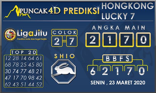 PREDIKSI TOGEL HONGKONG LUCKY7 PUNCAK4D 23 MARET 2020