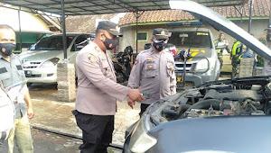 Kapolsek Cikancung Polresta Bandung, Beserta Jajaran Pengecekan Kendaraan Dinas