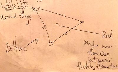 Close Encounter with Triangle UFO 3-8-16