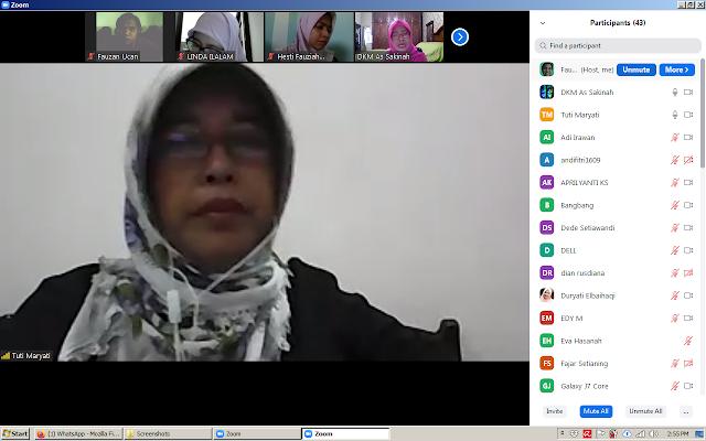 head of SMAN 110 teleconferencing